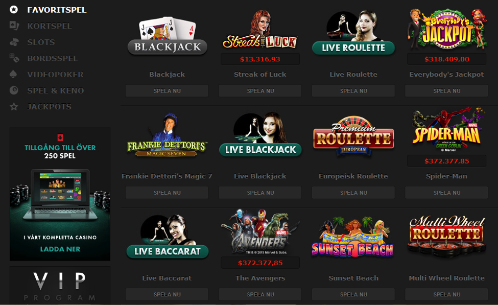 spela casino online  de